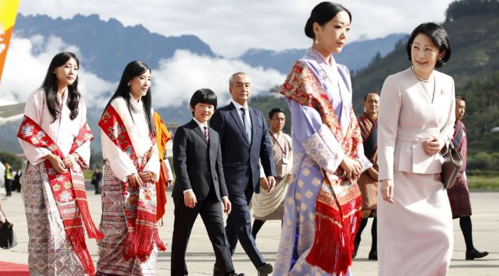 First overseas trip for Prince Hisahito as Crown Prince Akishino's family leaves for Bhutan